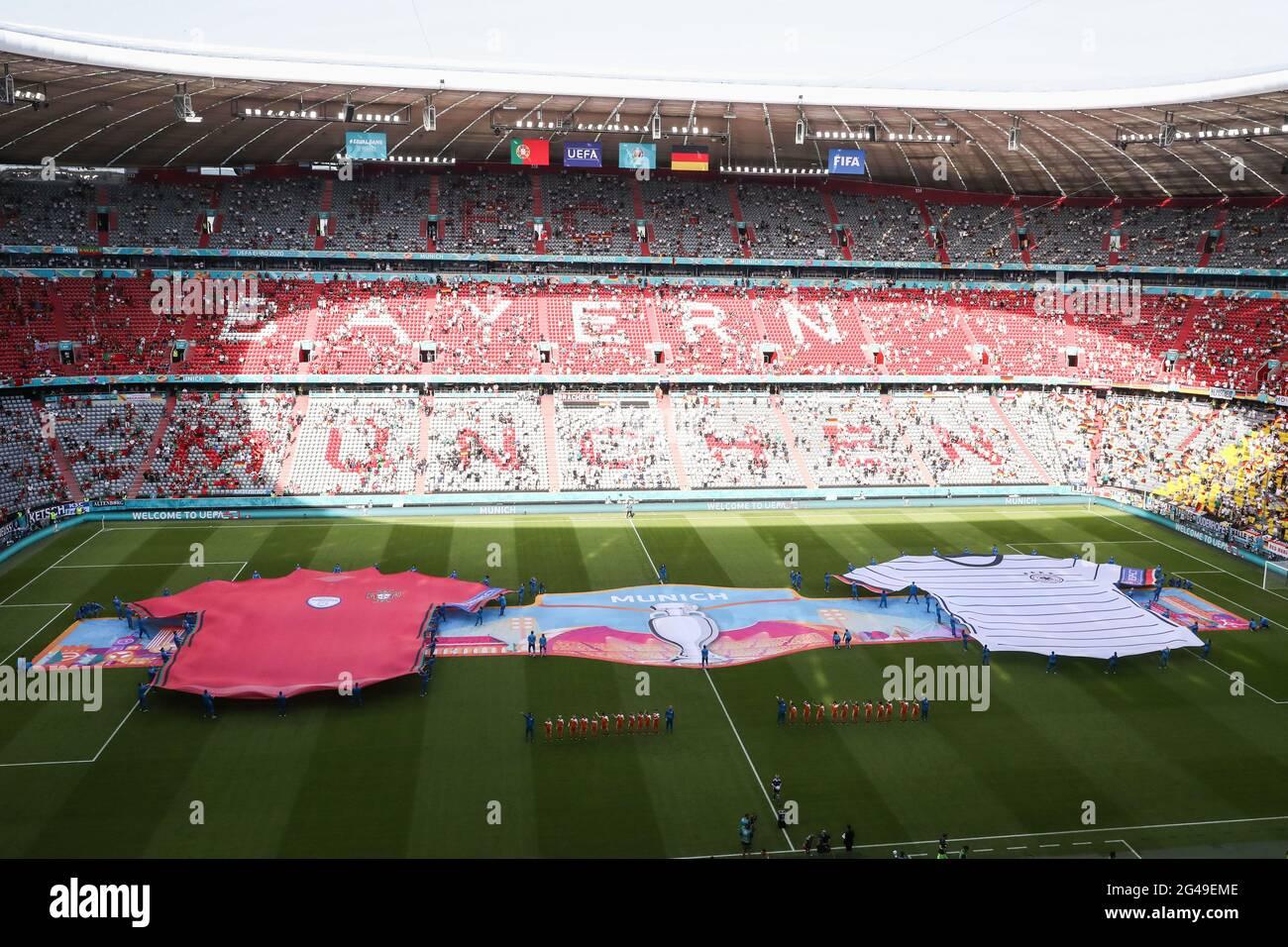 Munich, Allemagne. 20 juin 2021. La photo prise le 19 juin montre une vue d'une performance avant le match de l'UEFA Euro 2020 Championship Group F entre le Portugal et l'Allemagne à Munich, en Allemagne. Credit: Shan Yuqi/Xinhua/Alay Live News Banque D'Images