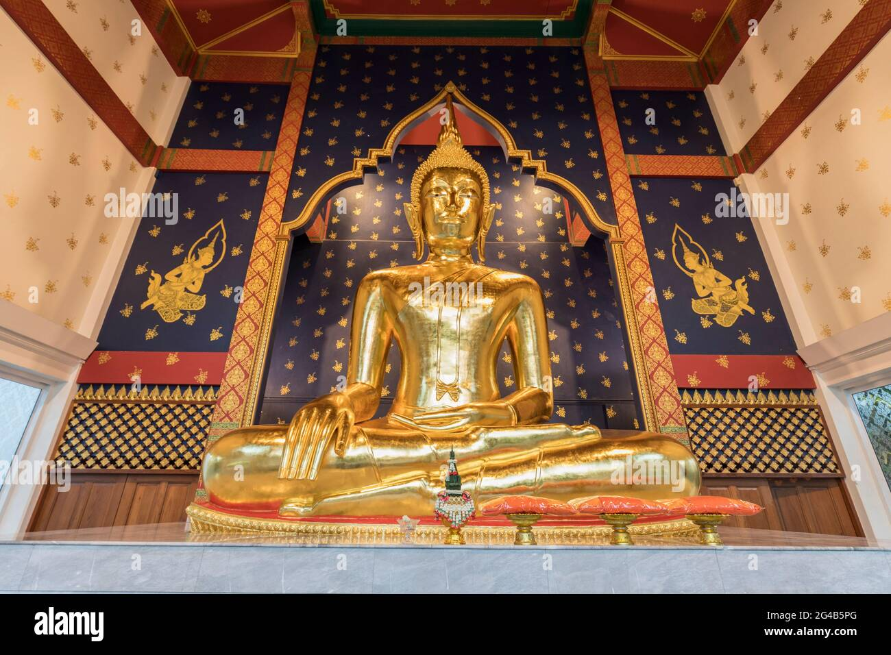 bouddha d'or à Wat Saket, montagne d'or, Temple de Srakesa, Bangkok, Thaïlande Banque D'Images