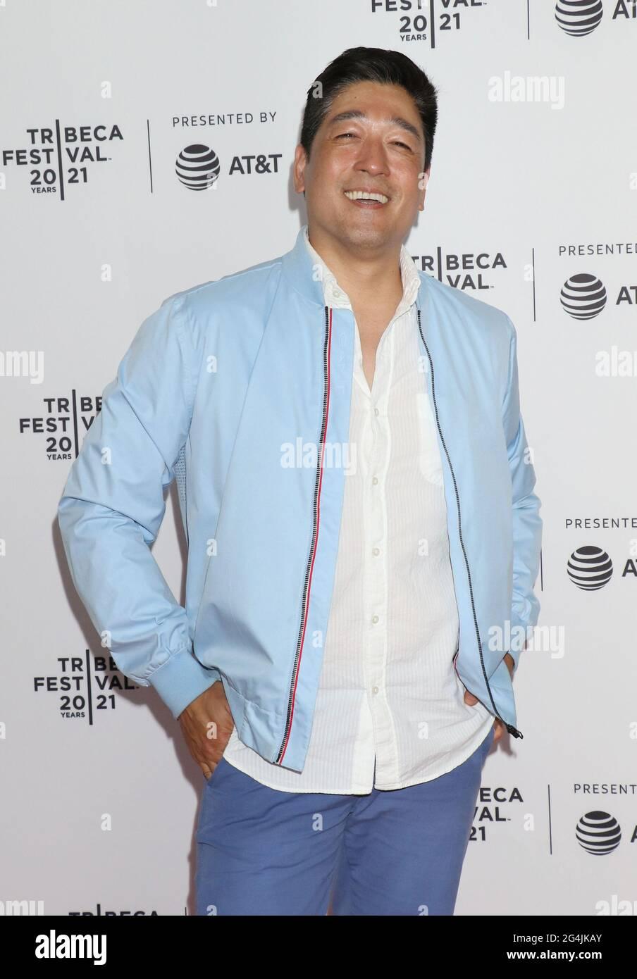 New York, NY, États-Unis. 21 juin 2021. Peter Kim au Tribeca film Festival 2021 première du Comité Dieu à Brooklyn Commons Metrotech à New York le 20 juin 2021 crédit: RW Media Punch/Alay Live News Banque D'Images