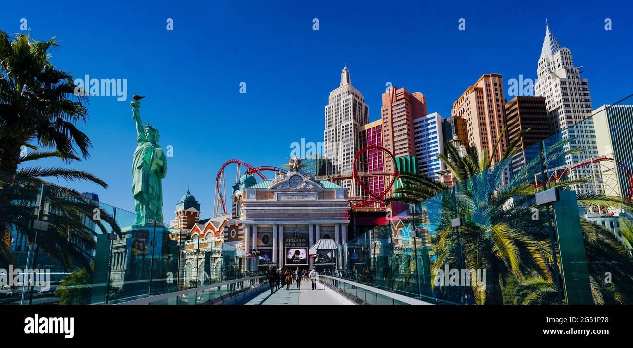 Entrée à l'hôtel et au casino, Las Vegas, Nevada, États-Unis Banque D'Images