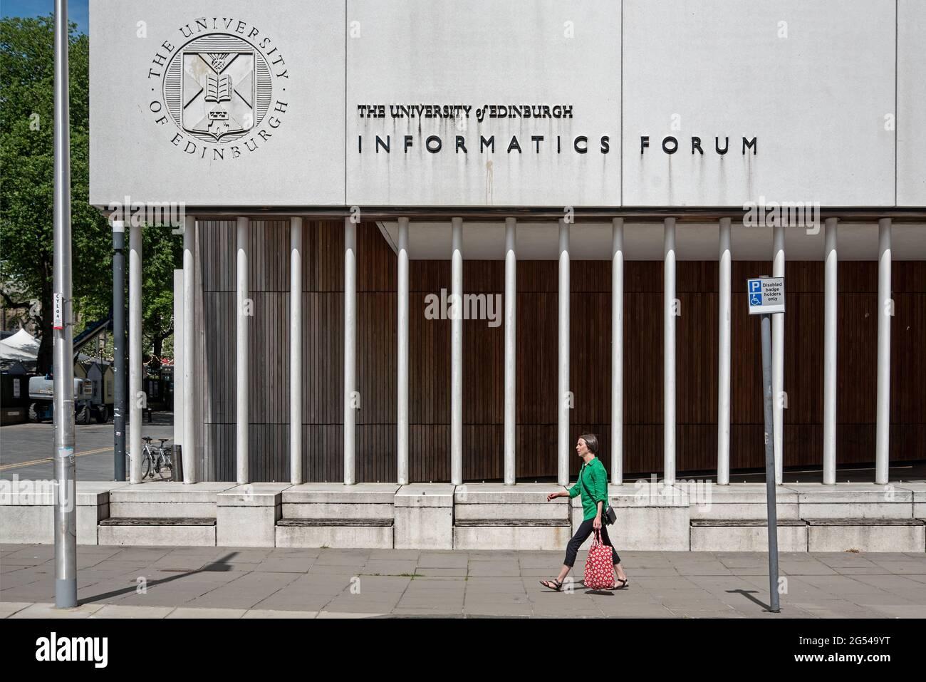 University of Edinburgh Informatics Forum Building à Potterrow, Édimbourg, Écosse, Royaume-Uni Banque D'Images