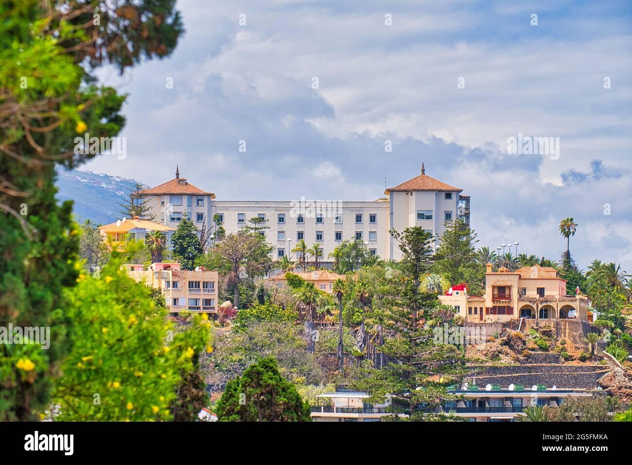Le Gran Hotel Taoro le premier hôtel de luxe a ouvert ses portes en Espagne en 1890. C'était un établissement pionnier dans le secteur du tourisme des îles Canaries. Banque D'Images