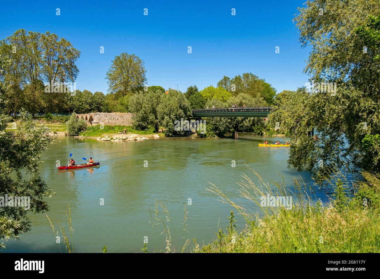 France, Seine et Marne, Chelles, les bords de la Marne Banque D'Images