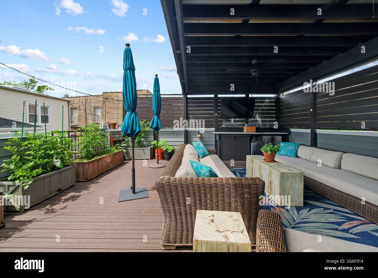 Résidentiel - espace extérieur Banque D'Images