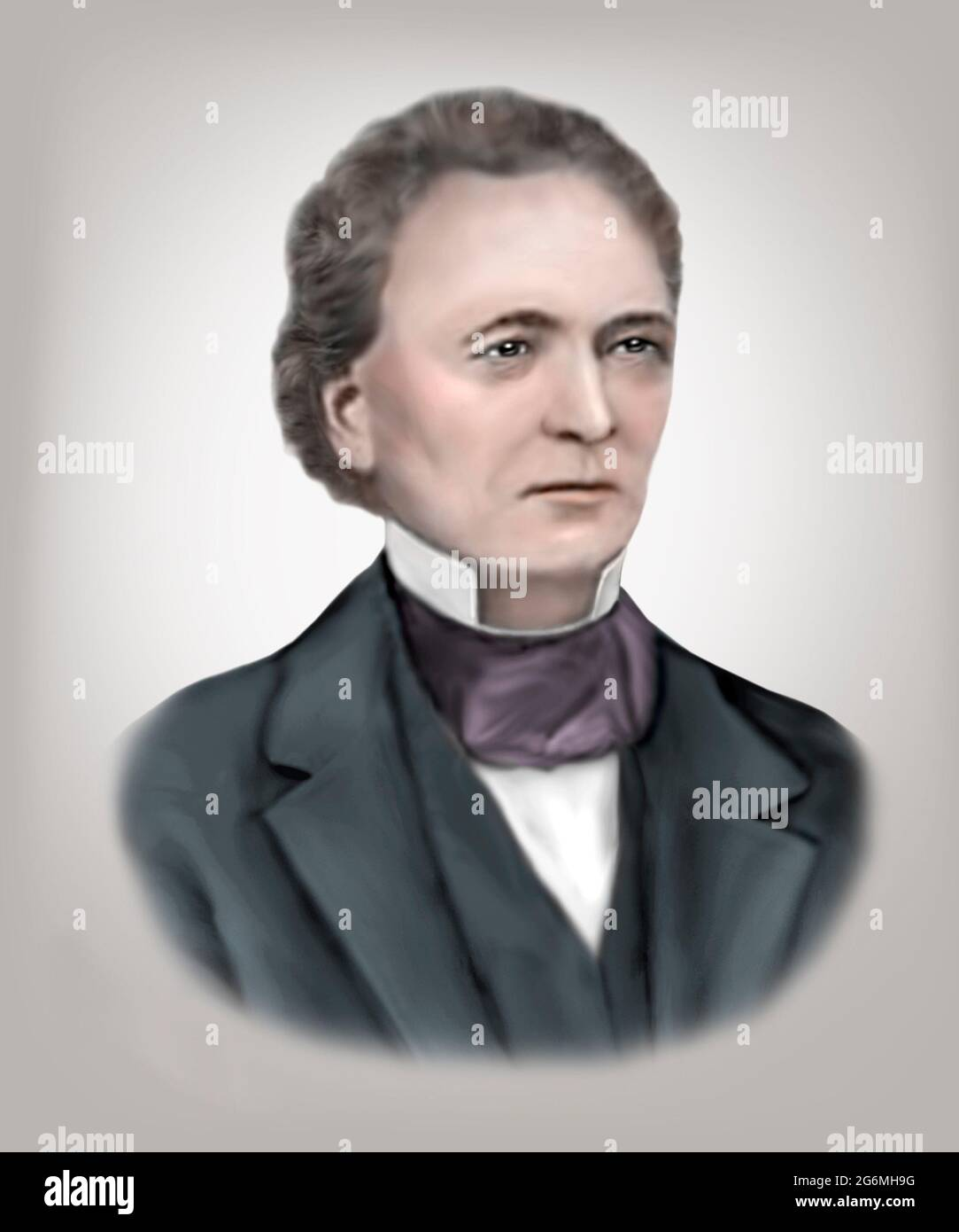 Walter Hunt 1796-1859 inventeur américain mécanicien Banque D'Images