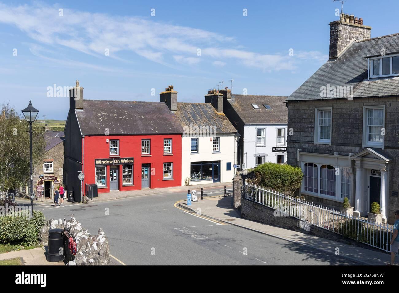 Boutiques dans le centre-ville, St David's, Pembrokeshire, pays de Galles, Royaume-Uni Banque D'Images