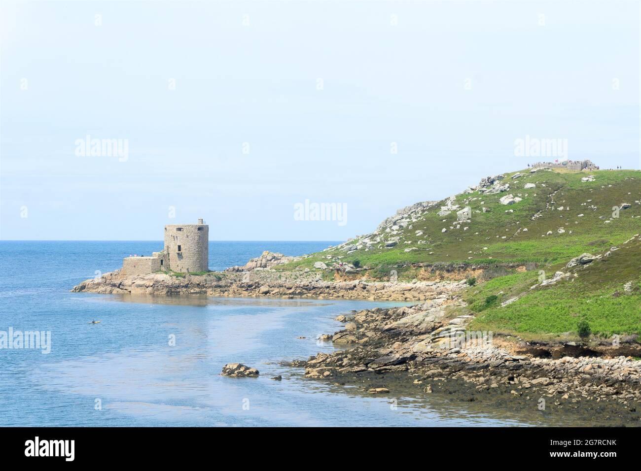 Cromwell's Castle sur Tresco, Îles Scilly, Cornwall, UK Banque D'Images