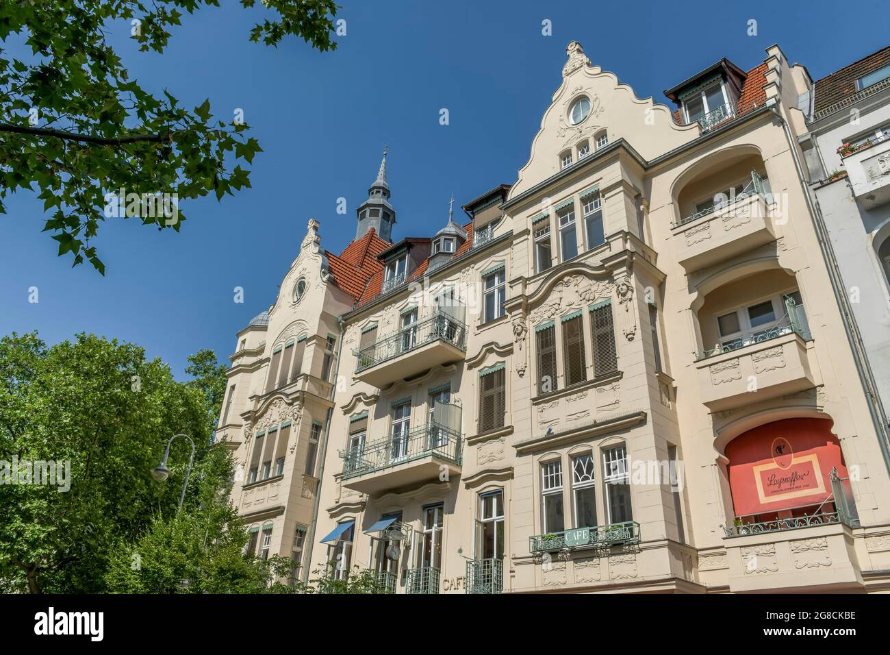 Altbau, Schlossstrasse, Steglitz, Berlin, Allemagne Banque D'Images