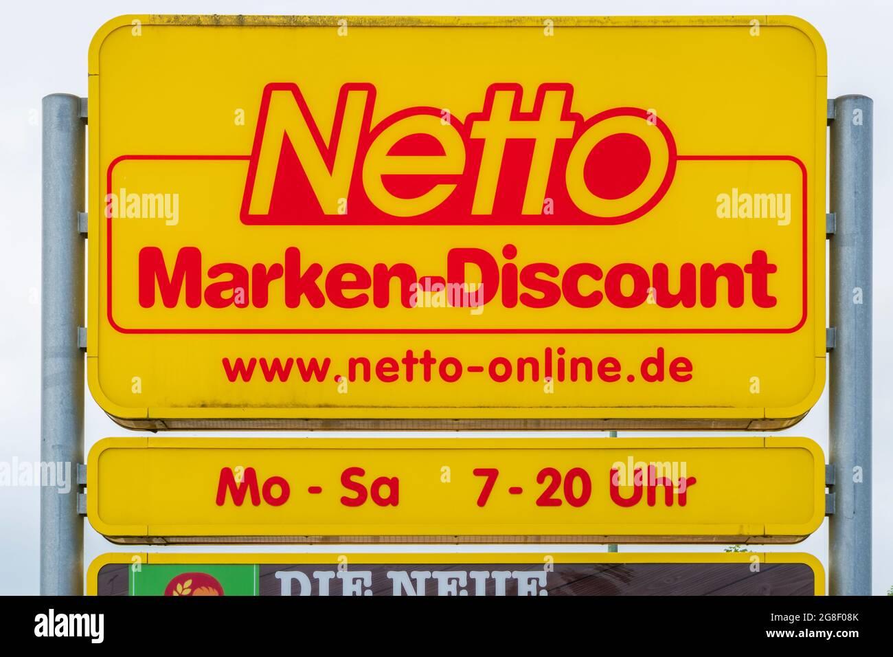 Filiale der Firma Netto à Schwabmünchen Banque D'Images
