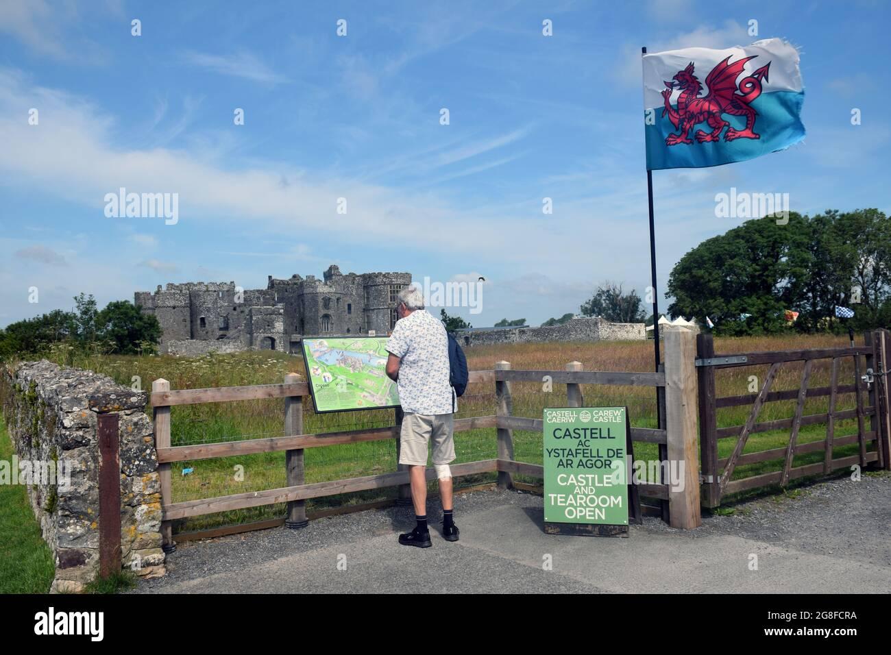 Château de Carew, Pembrokeshire, pays de Galles du Sud 2021 Banque D'Images
