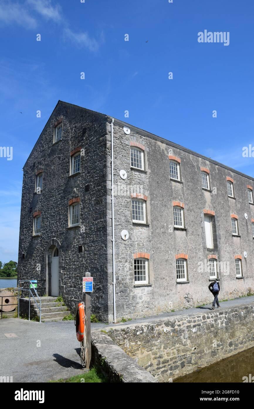 Moulin à marée au château de Carew, Pembrokeshire, pays de Galles du Sud 2021 Banque D'Images