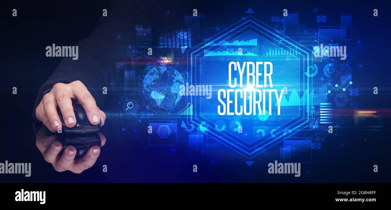 périphérique sans fil portable, concept de cyber-sécurité Banque D'Images