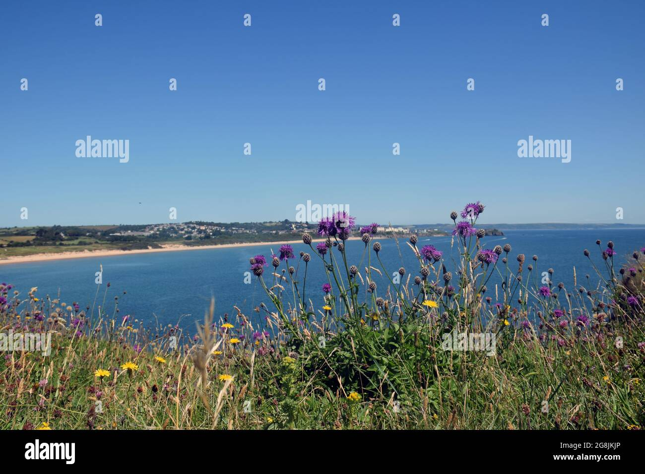 South Beach, Tenby, Pembrokeshire, South Wales juillet 2021 Banque D'Images
