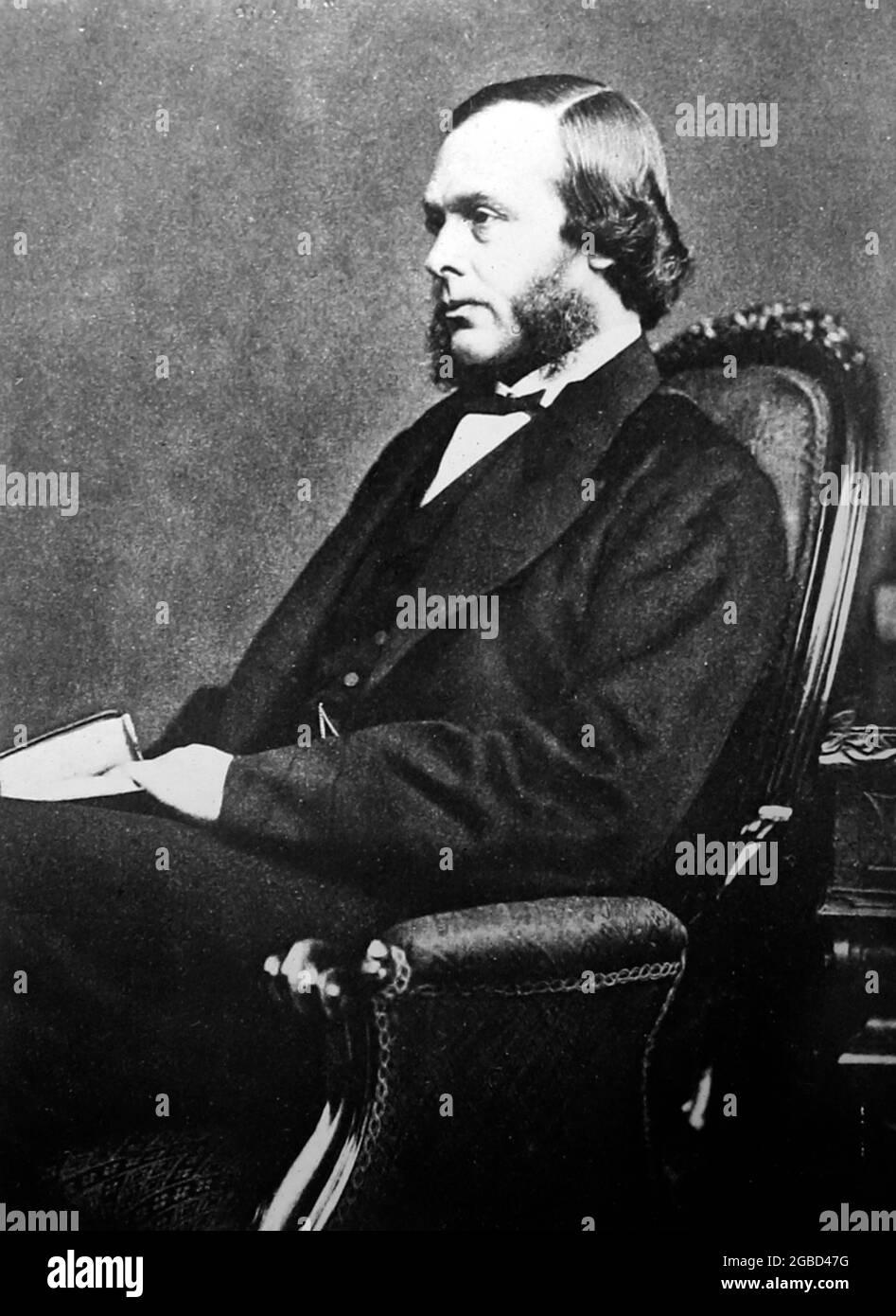 Joseph Lister, pris à la fin des années 1860 Banque D'Images