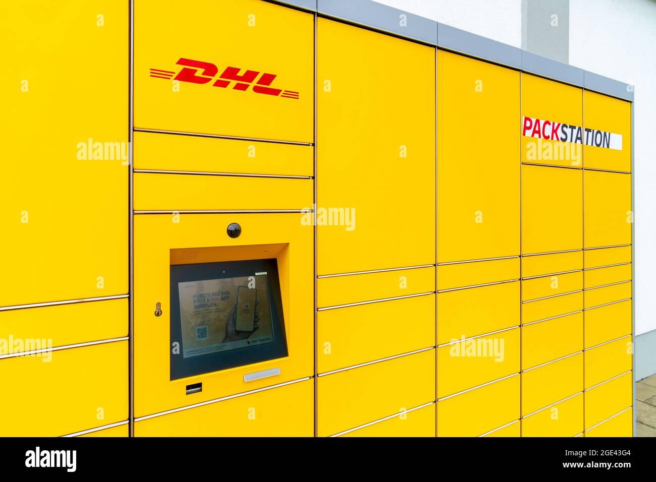 DHL Packstation für Post und Pakete Banque D'Images
