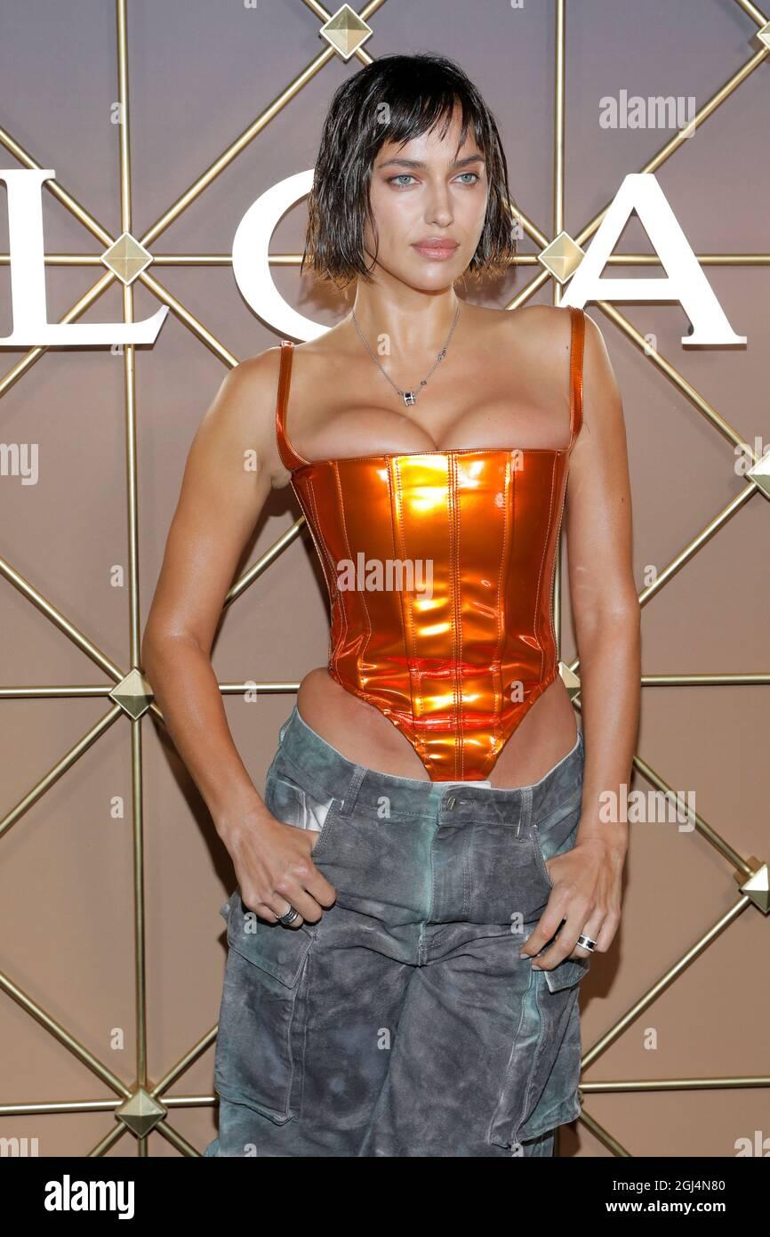 Model Irina Shayk assiste au Bulgari B.Zero1 Party lors de la New York Fashion week à Manhattan, New York City, États-Unis, le 8 septembre 2021. REUTERS/Andrew Kelly Banque D'Images