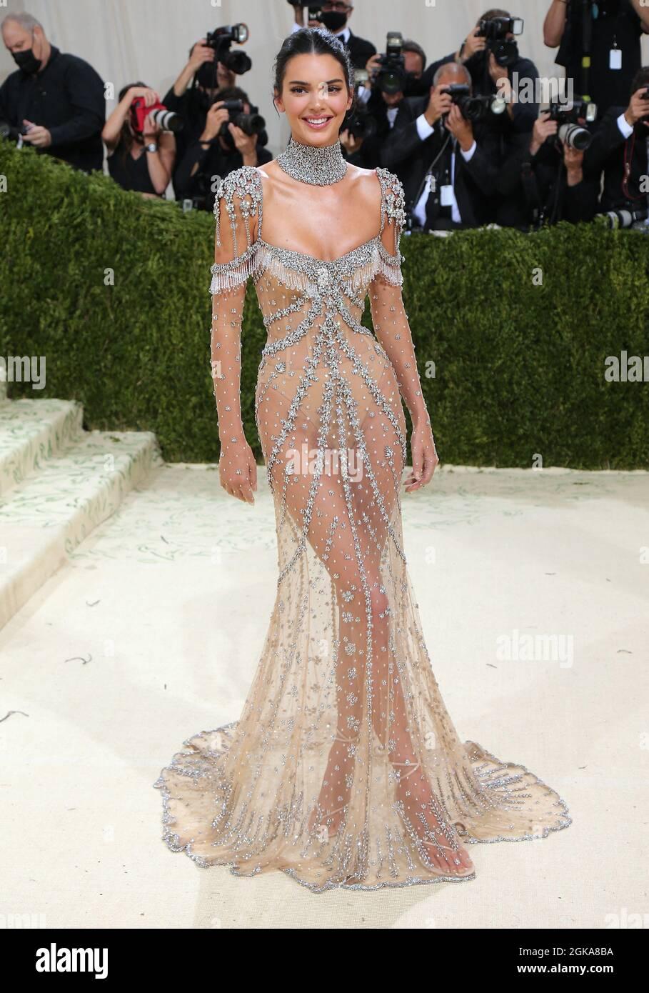 New York, États-Unis. 13 septembre 2021. Kendall Jenner participe au Metropolitan Museum of Art Costume Institute Averment Gala 2021 à New York City, NY, États-Unis, le 13 septembre 2021. Photo de Charles Guerin/ABACAPRESS.COM crédit: Abaca Press/Alay Live News Banque D'Images