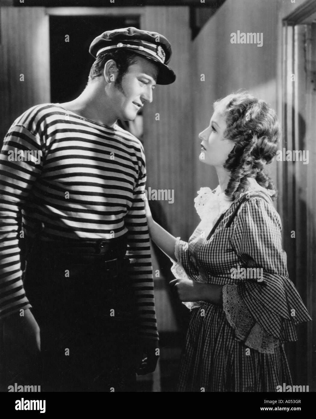 La fin de l'AVENTURE 1937 Universal film avec John Wayne et Diana Gibson Photo Stock