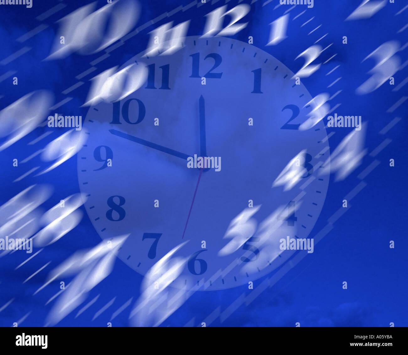 CONCEPT NUMÉRIQUE: tempus fugit ou le temps passe vite Photo Stock