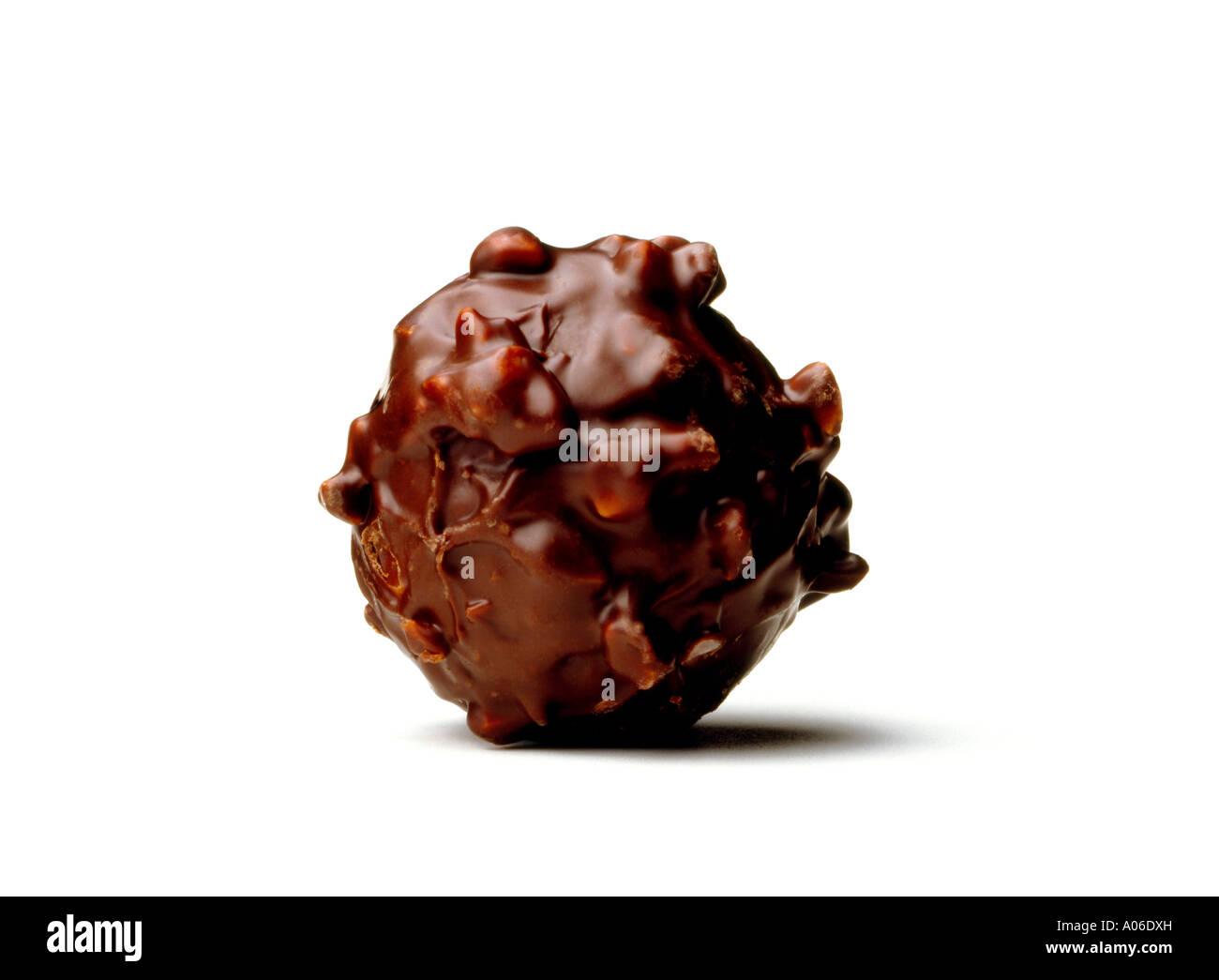 Truffes au chocolat noir Photo Stock