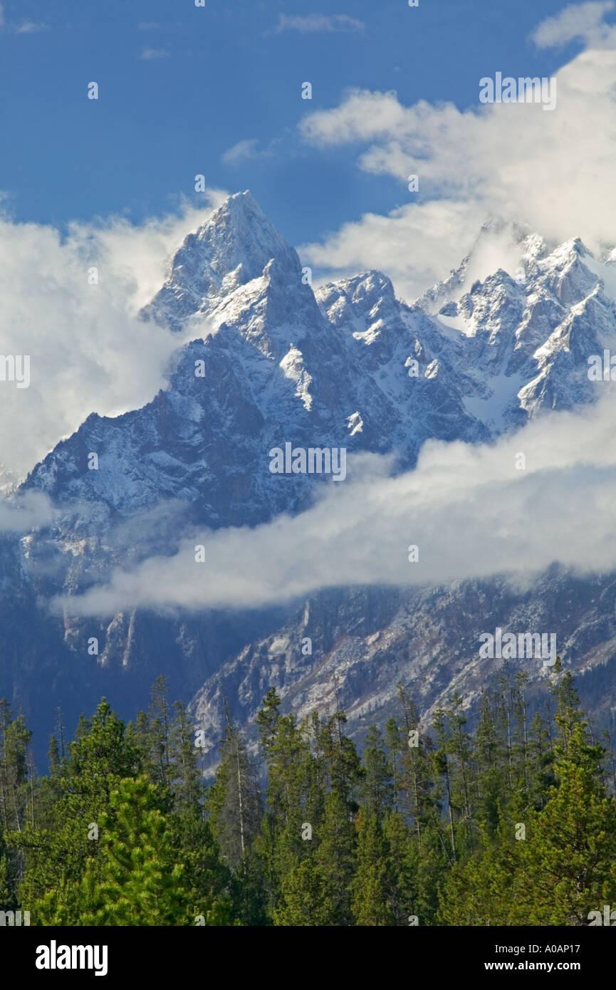 Close up de l'un des sommets dans le Grand Teton National Park Wyoming Photo Stock