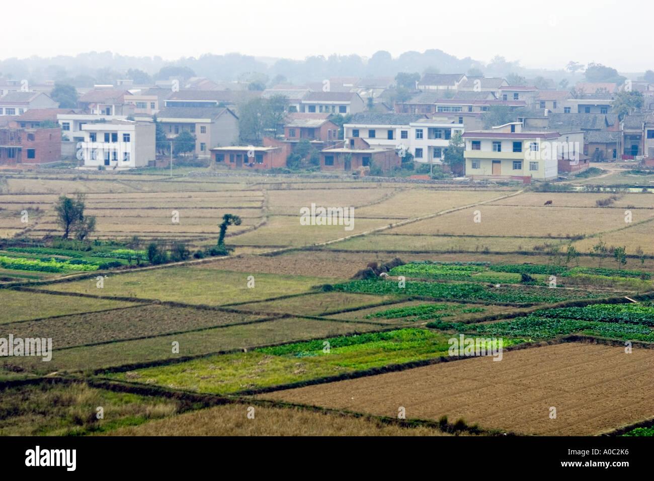 Chine SHANGHAI Petit jardin parcelles dans les banlieues à ...