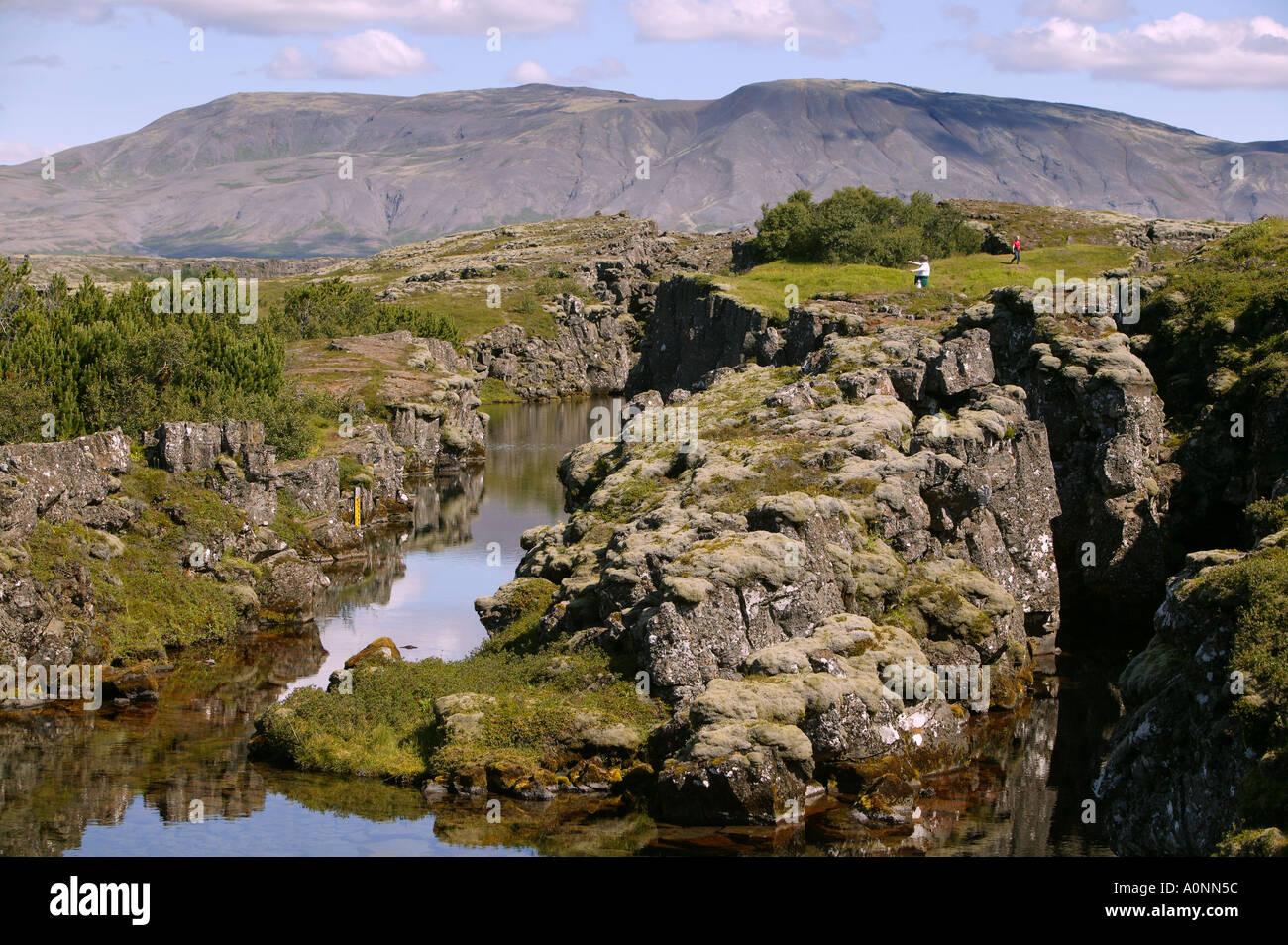 Le Parc National de Thingvellir Islande Photo Stock