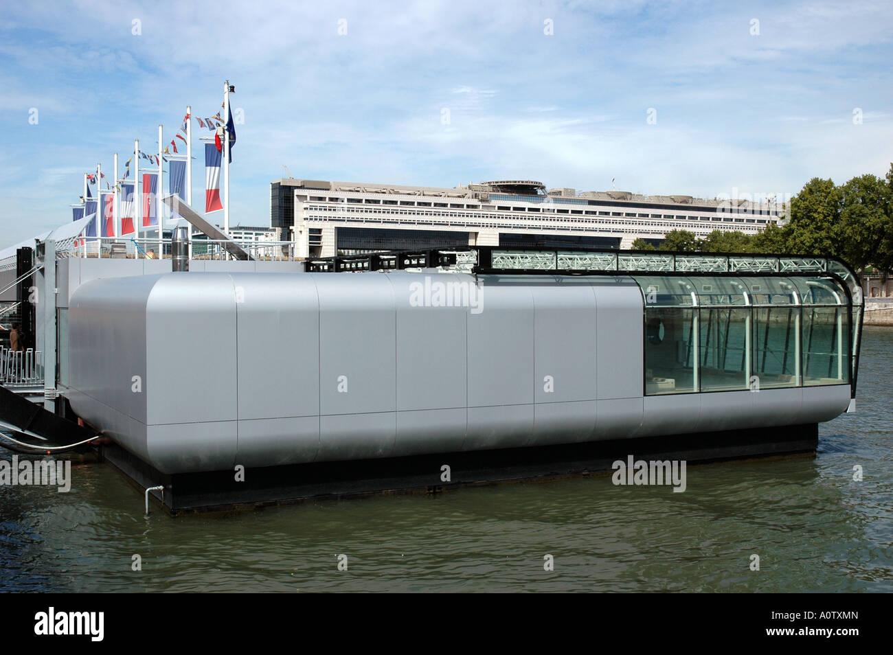 Seine River Paris France Piscine Flottante Josephine Baker Port De