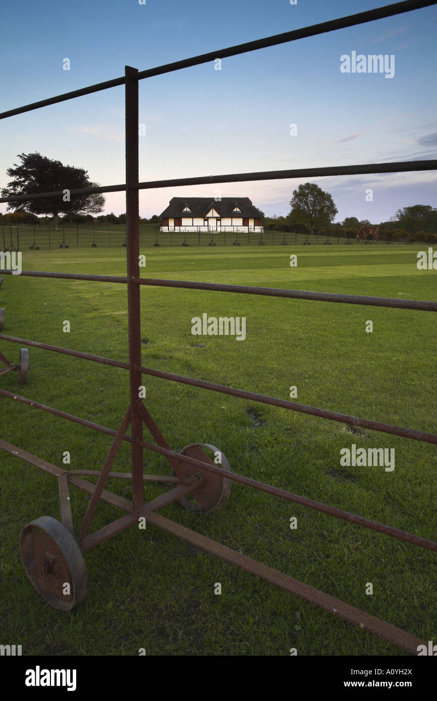 Terrain de cricket de Lyndhurst et Pavilion at Banc Chelsea House Banque D'Images