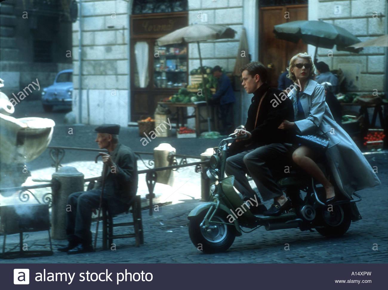 Le talentueux Mr Ripley 2000 réalisateur Anthony Minghella Matt Damon Gwyneth Paltrow basé sur le livre Photo Stock