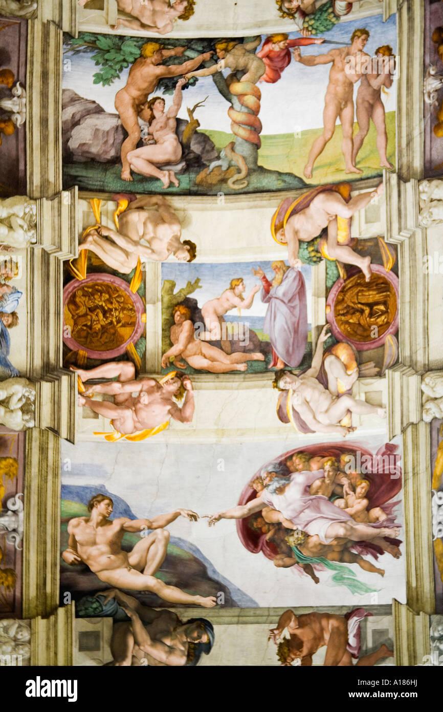 Plafond De La Chapelle Sixtine Peche Original Et L Interdiction Du