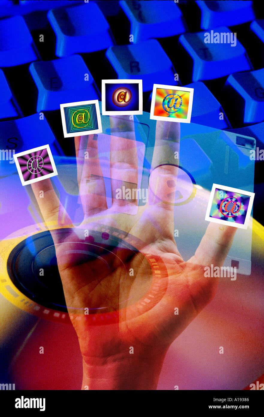 Concept internet Photo Stock