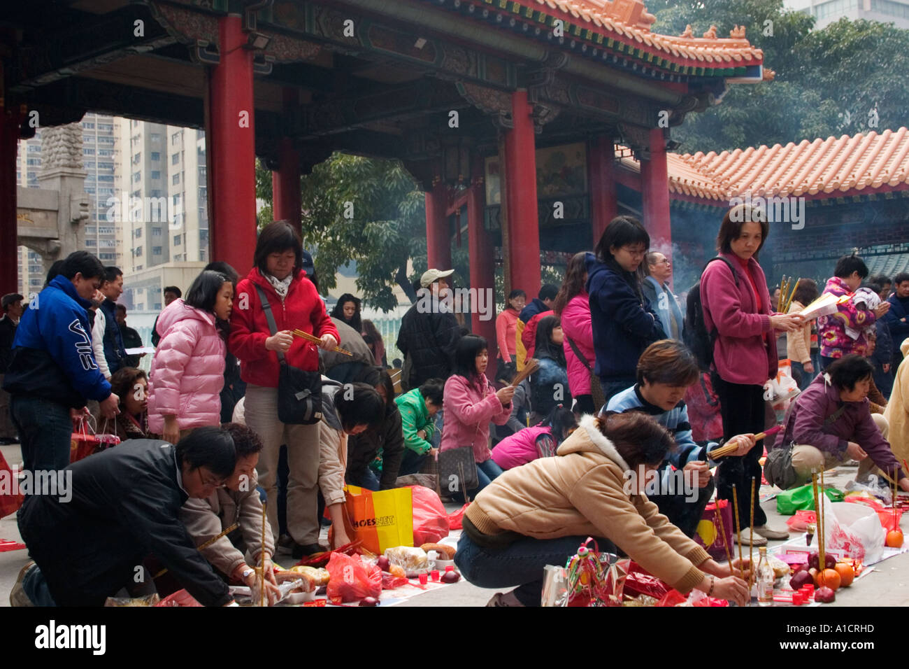 Sik Sik Yuen Wong Tai Sin Temple en Asie Chine Hong Kong Kowloon Photo Stock