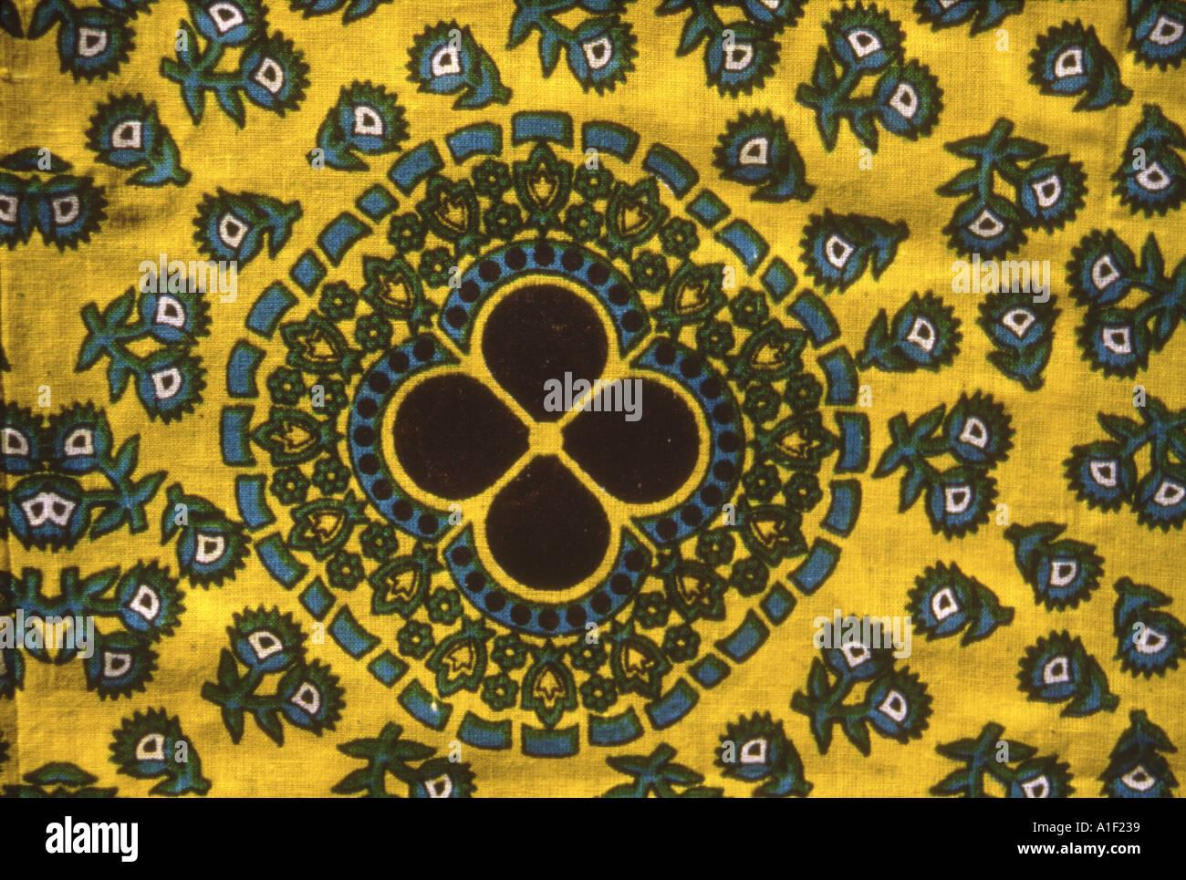 Textile Batik porté par les femmes dans la province de Dhofar Oman Photo Stock