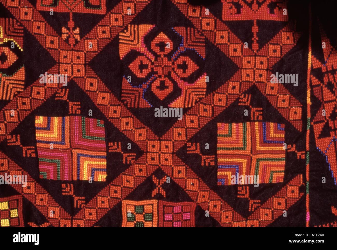 Textiles tissés faits par des femmes bédouines dans le Sinaï Photo Stock