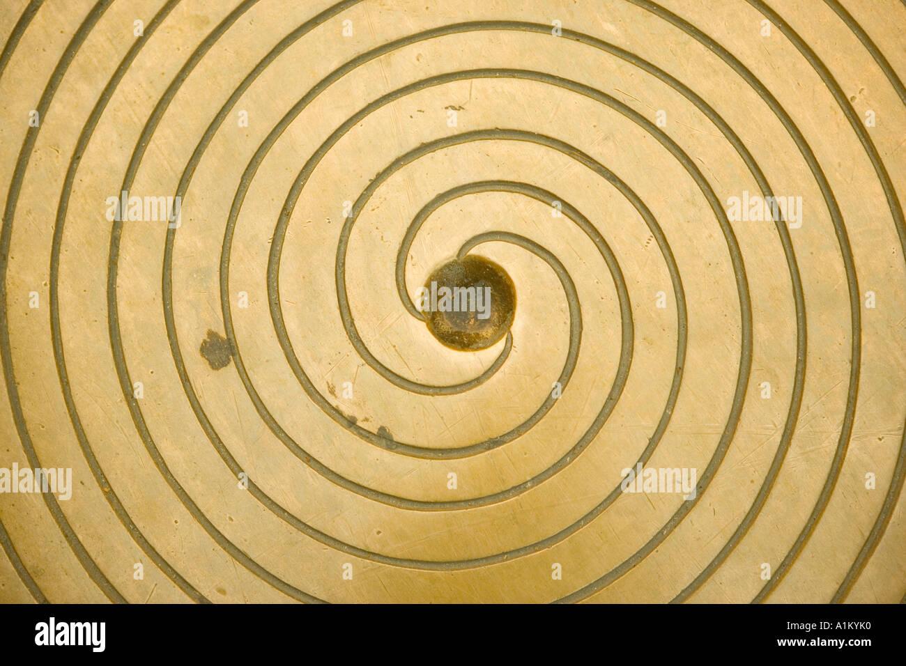 Couvercle avec motif en spirale Photo Stock