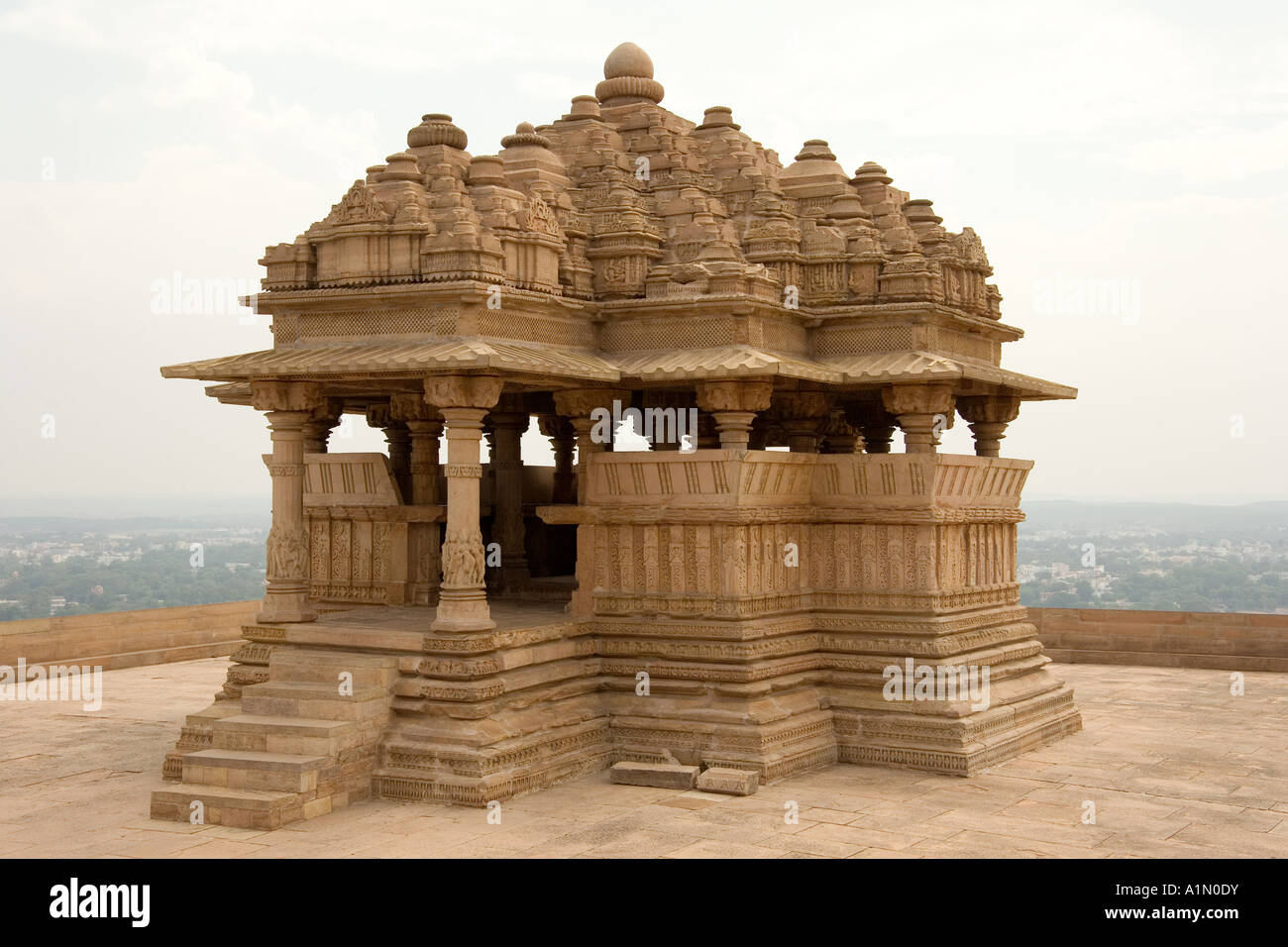 Le Saas Bahu Temple Dans La Propriété De Man Mandir Palace à Gwalior