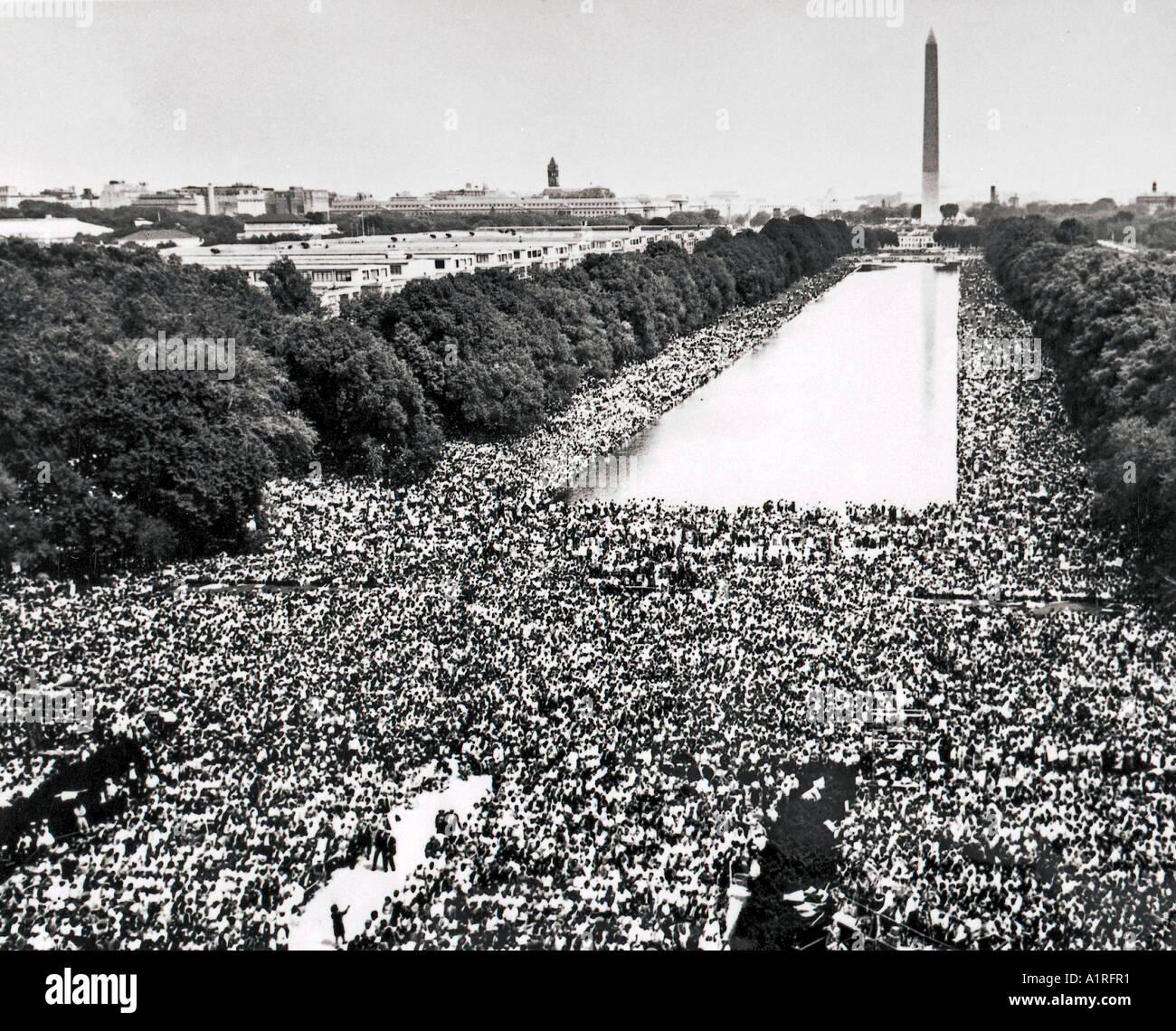 Marche sur Washington, Martin Luther King, I have a Dream speech Banque D'Images