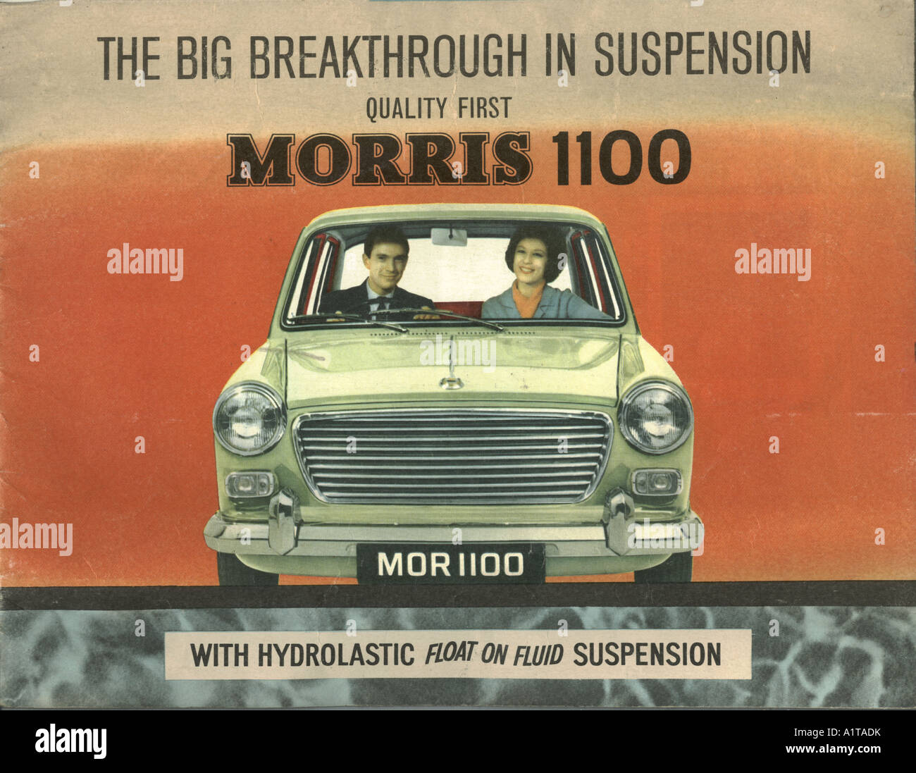 Plaquette de la Morris 1100 1963 Photo Stock