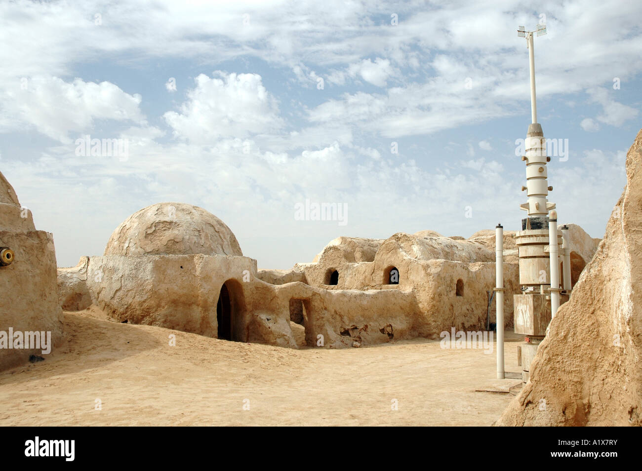 Demeure de George Lucas Star Wars film situé sur le Sahara en Tunisie Photo Stock