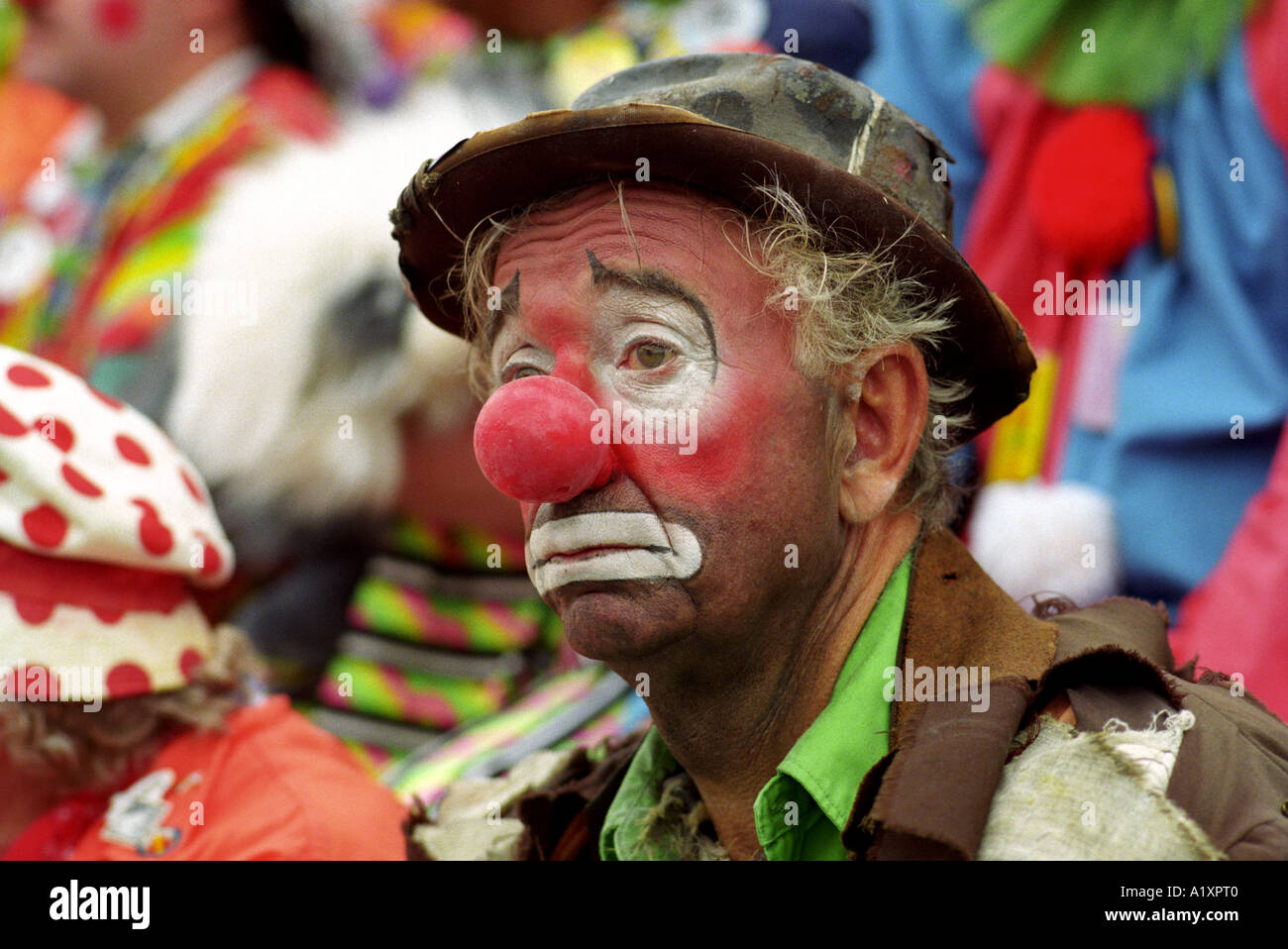 Clown Triste Au Monde Convention Clowns Banque D Images Photo Stock