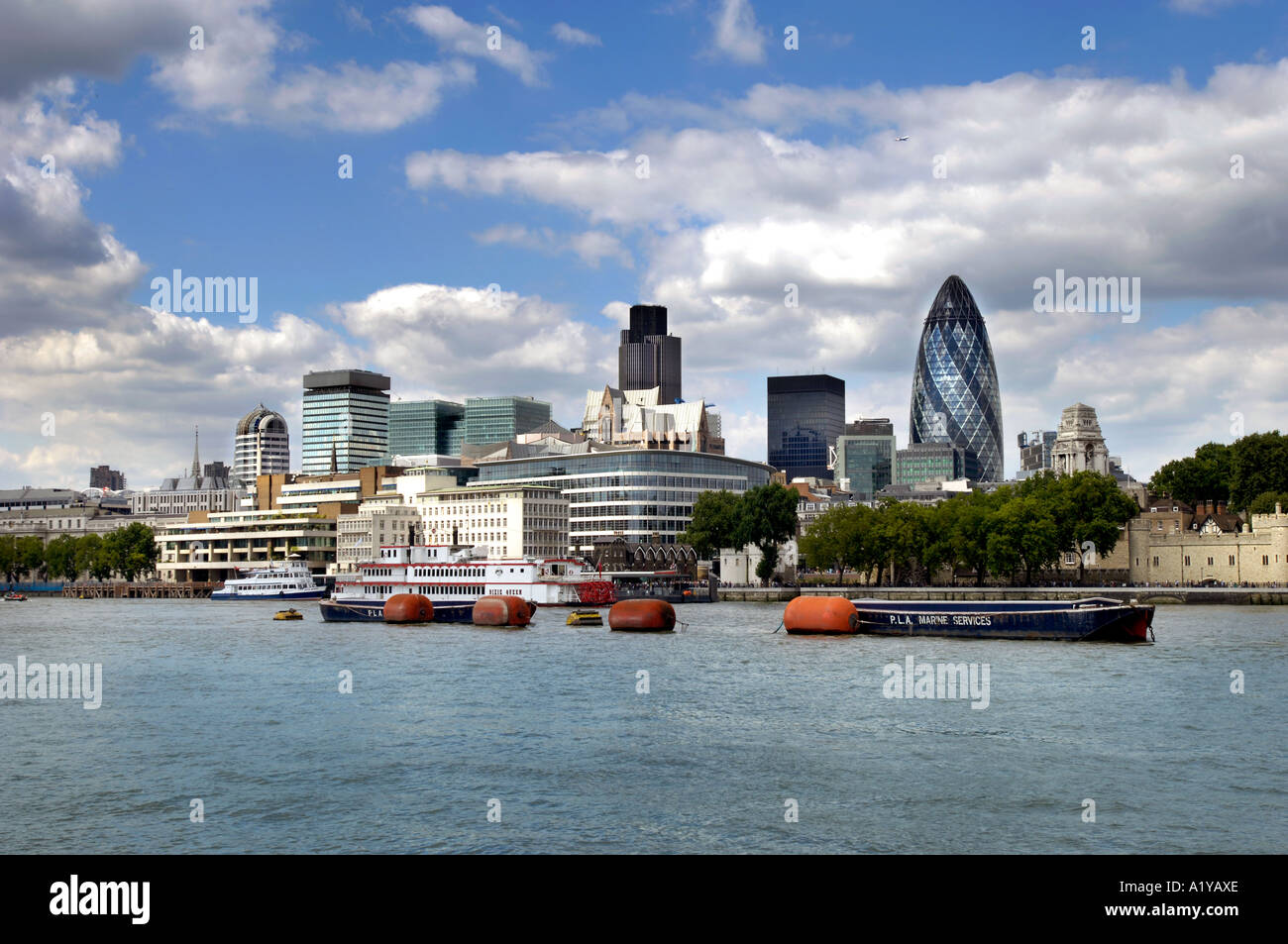 Ville de London Skyline Photo Stock