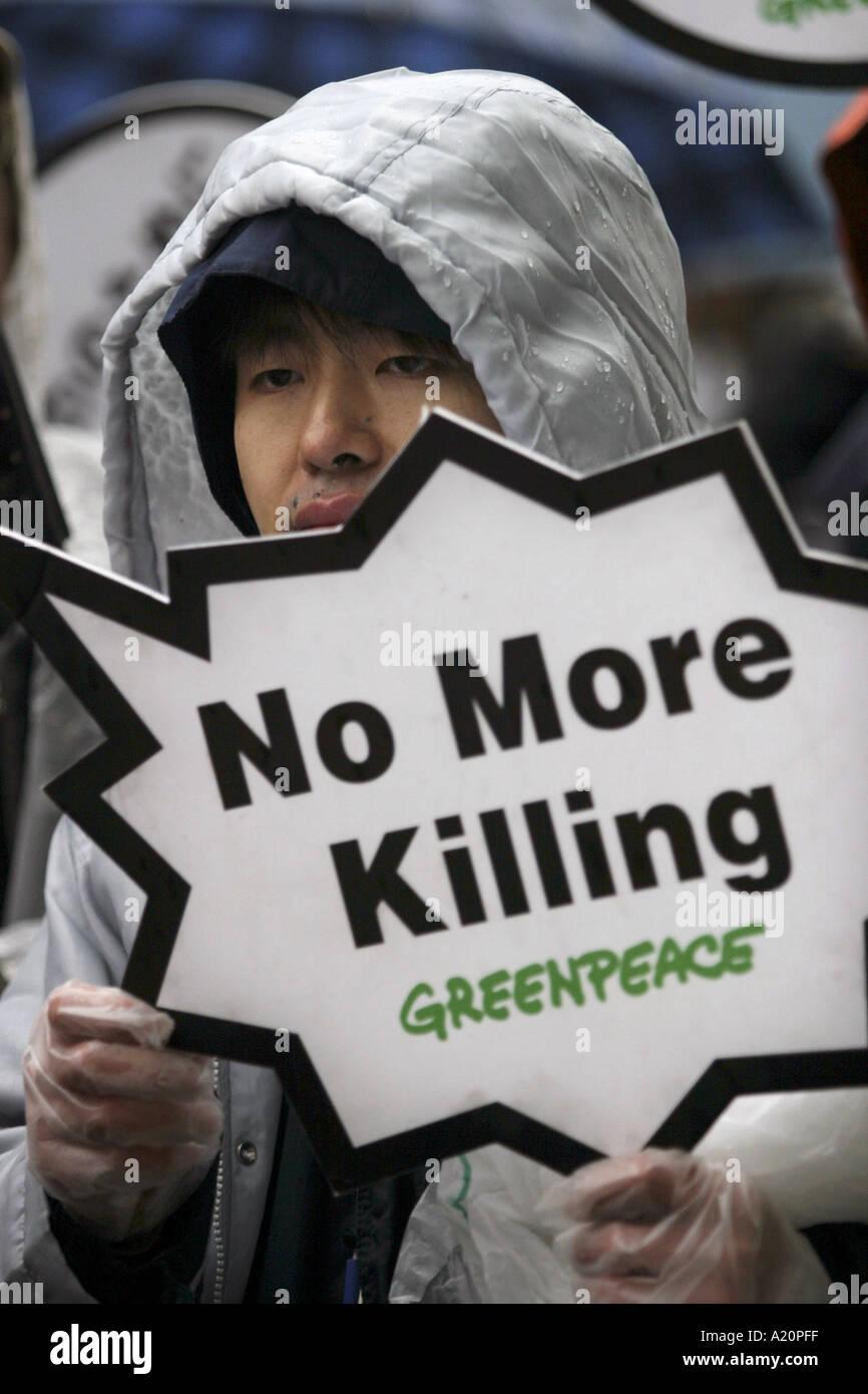 Démonstration de la paix et contre la guerre, le Japon démo Photo Stock
