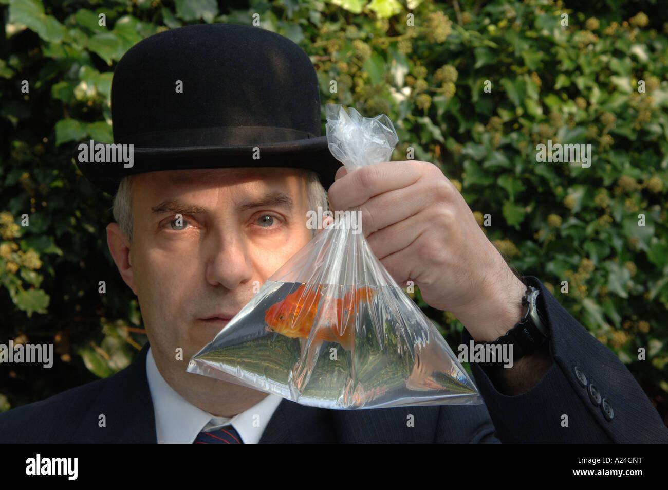 sac de poisson rouge Photo Stock