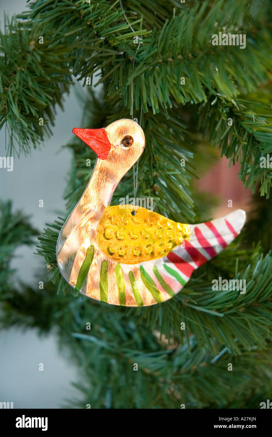 Décoration d'arbre de canard en étain Photo Stock