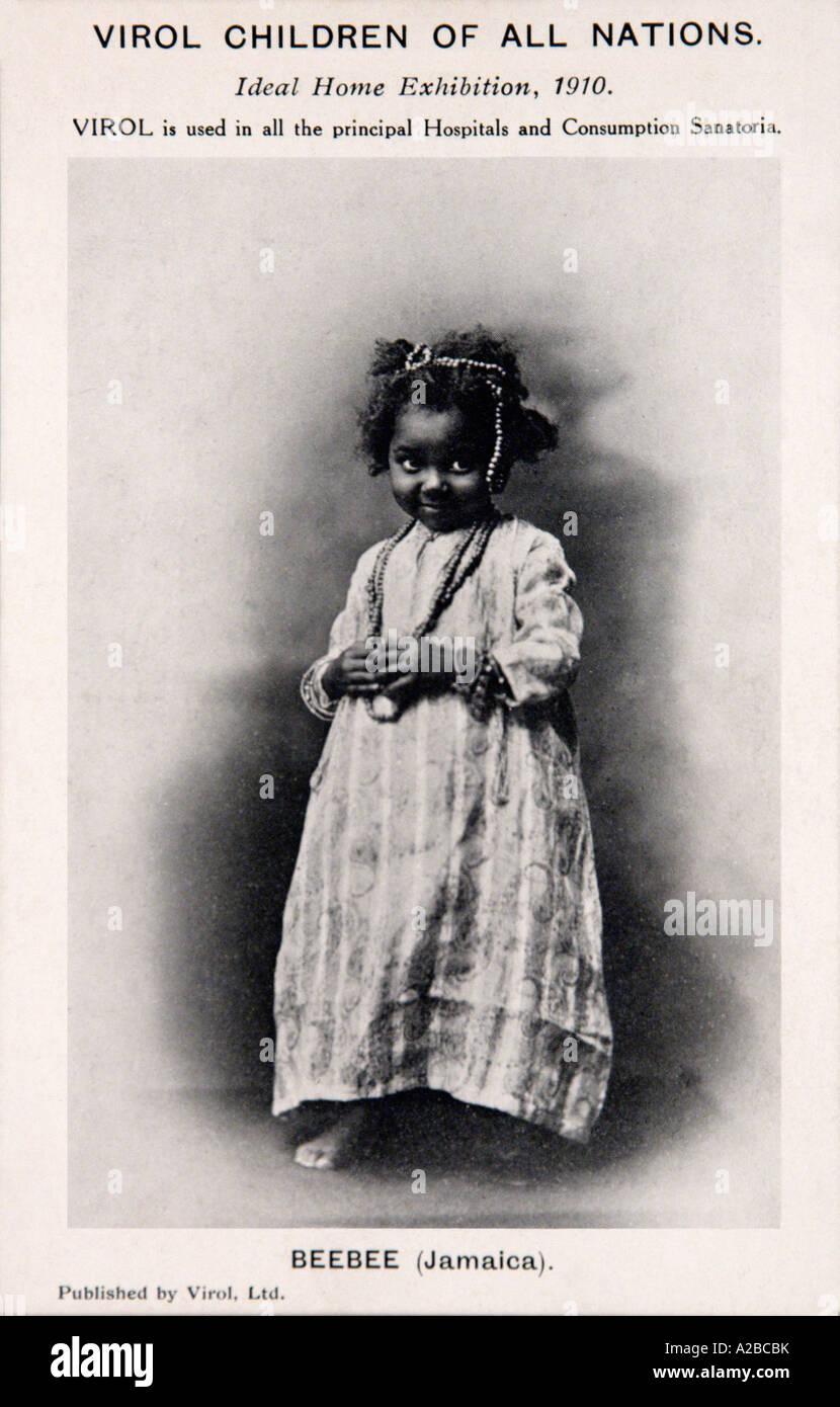 Carte postale publicitaire Virol 1910 EDITORIAL UTILISEZ UNIQUEMENT Photo Stock