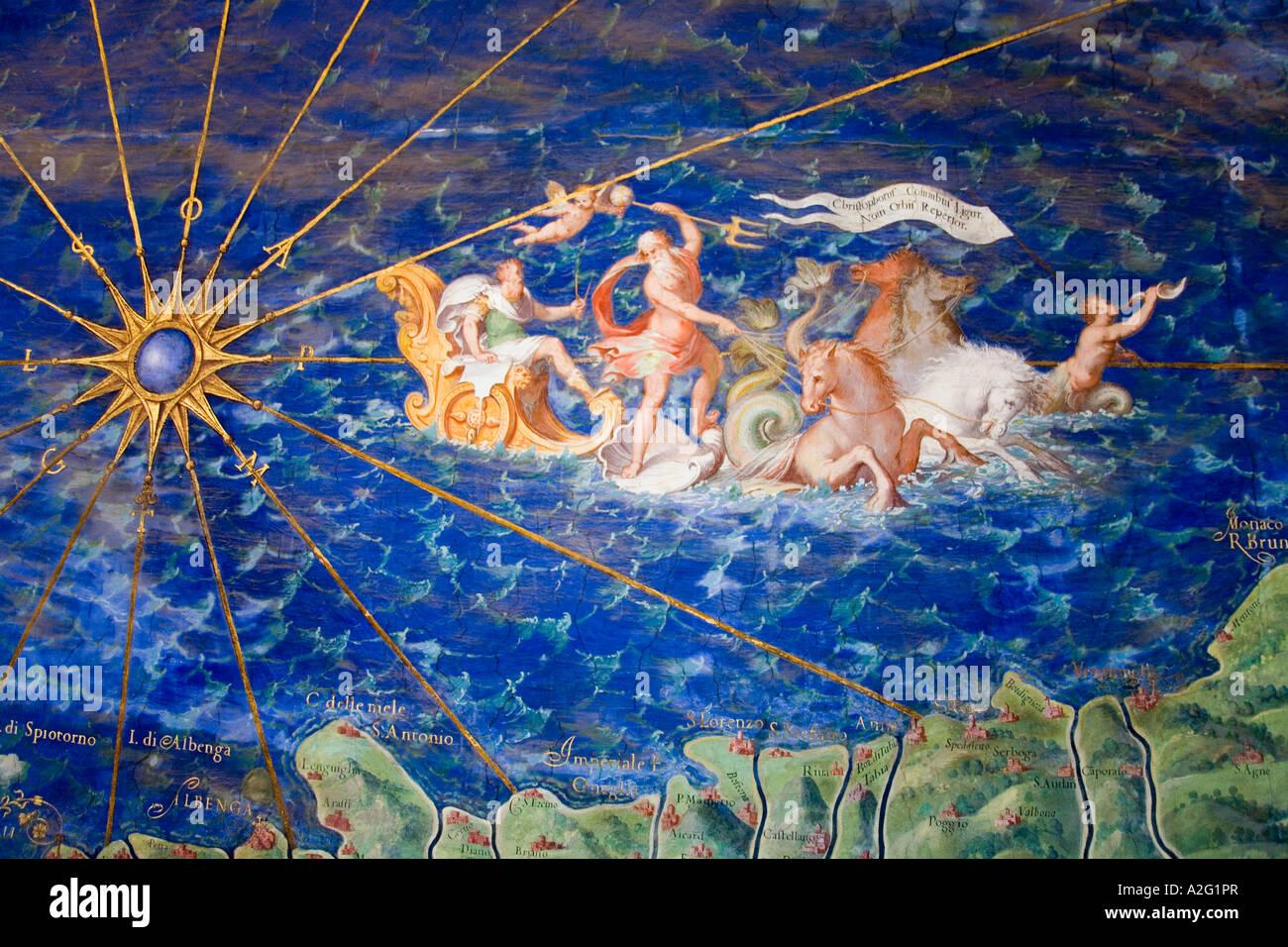 Carte Italie Ligurie.Detail De Carte Antique De La Ligurie La Peinture Au Musee Du