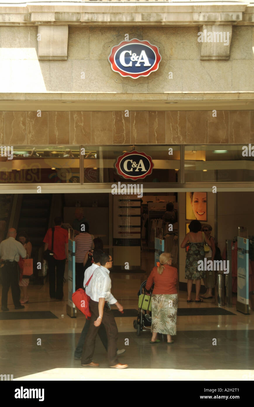 Palma Modes C et A magasin de vêtements Photo Stock