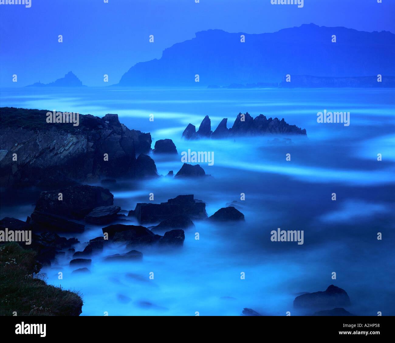 IE - comté de Kerry: Ballyferriter Bay Photo Stock
