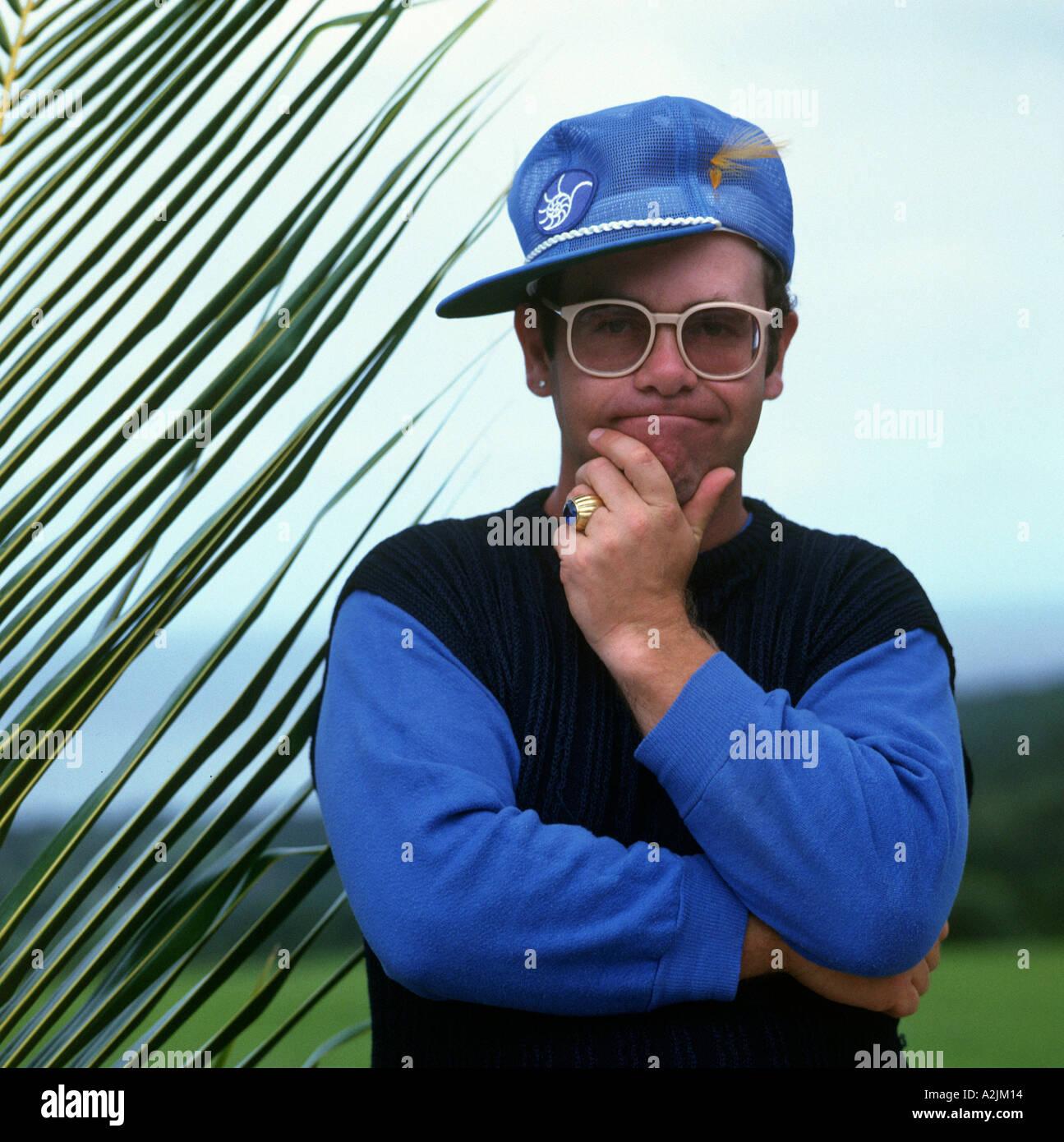 ELTON JOHN à propos de 1989 Photo Stock